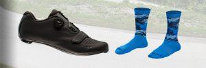 Bontrager racefiets schoenen en sokken