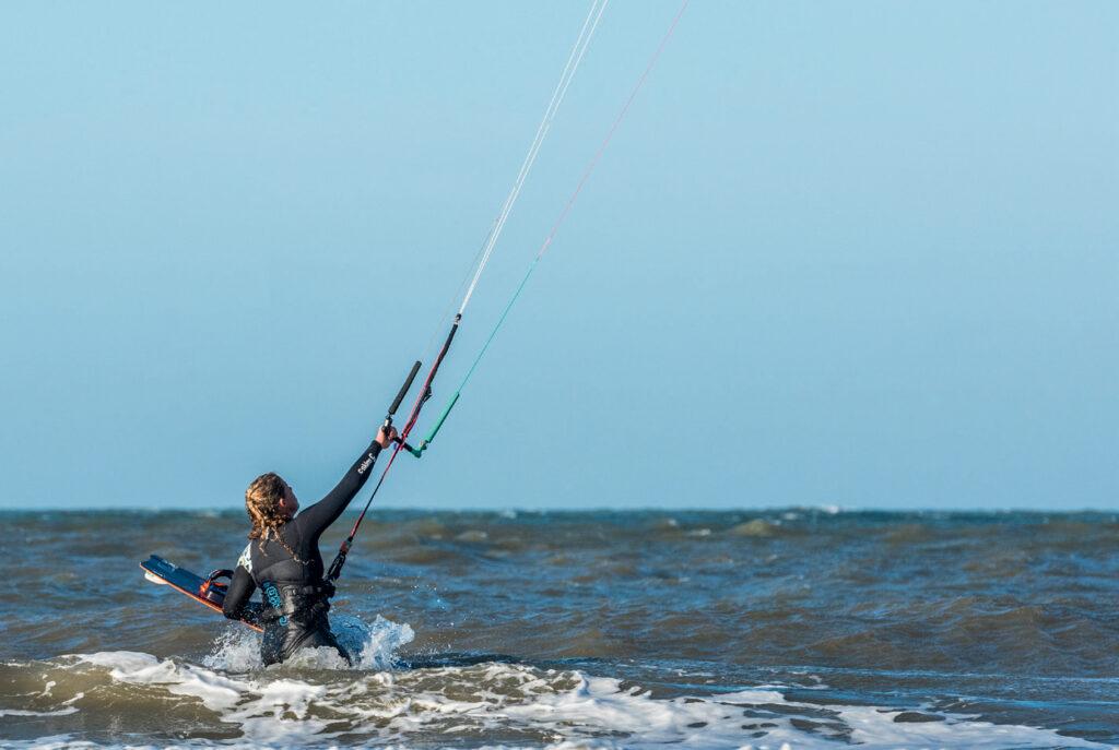 Kitesurfen op Zee
