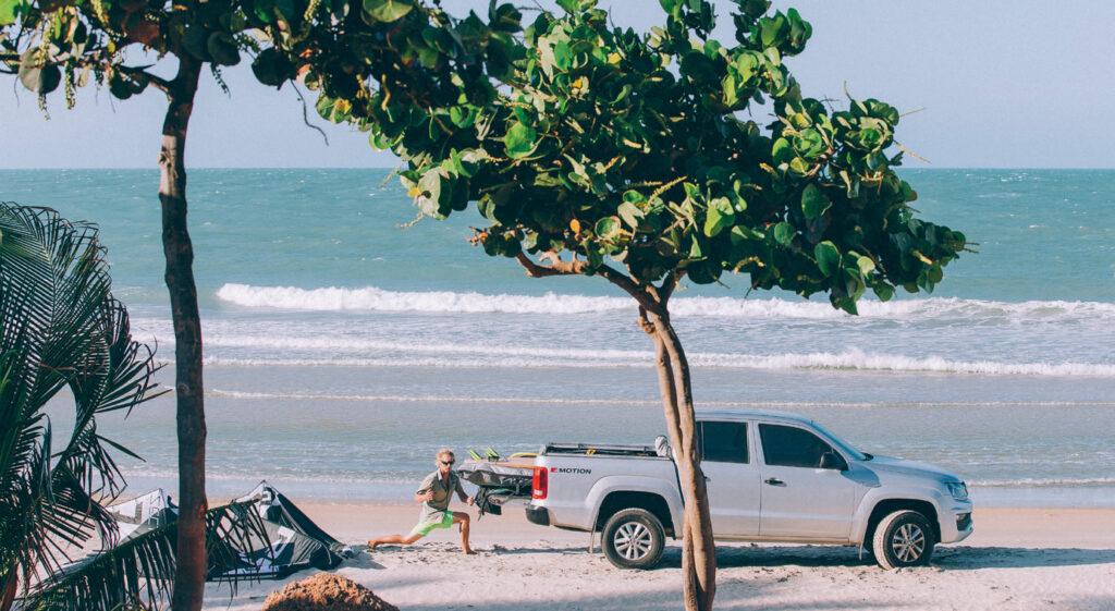 Kitesurfen in Embuaca - Brazilië