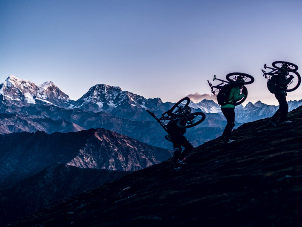 Mountainbiken Nepal - Pikey Peak