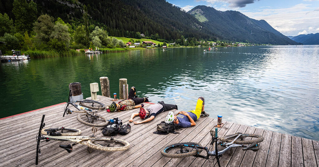 Mountainbiken in Weissensee 1