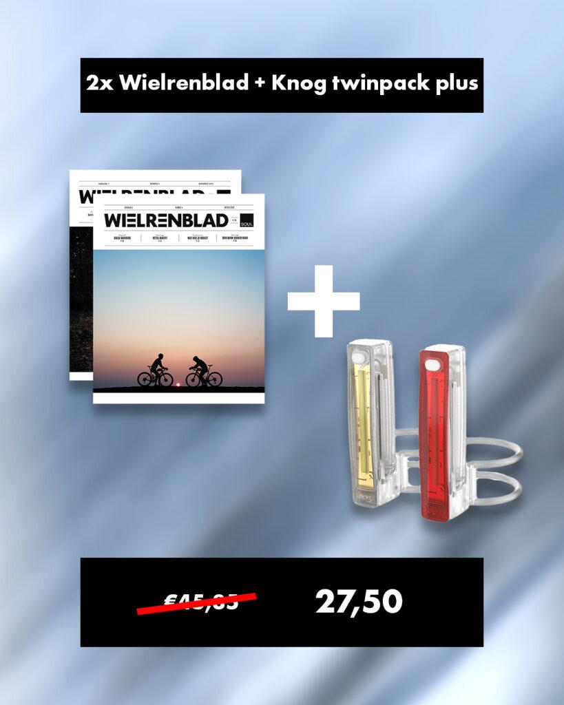 Wielrenblad + Knog Plus Twinpack