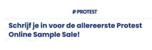 Protest sample sale