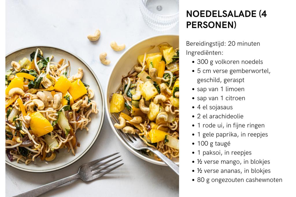 Titia van der Stelt Noedelsalade Fiets & Voeding