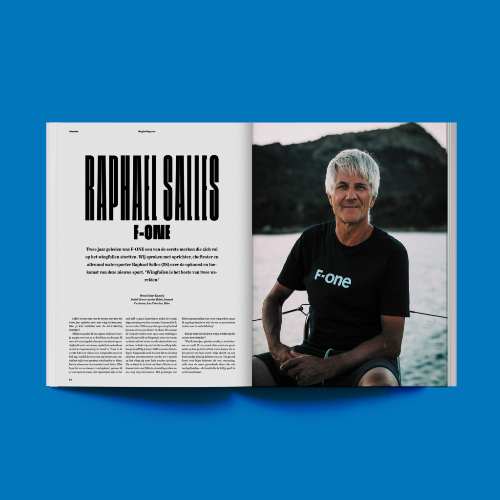 Wingfoil magazine Raphael Salles